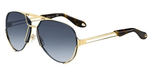 GIVENCHY 7014/S J5G/NP AVIATOR WITH TWO PAIRS OF LENSES ONE BLUE AND ONE GREEN