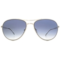 PAUL SMITH PM4074/S 506311 SURREY AVIATOR IN SILVER WITH PACIFIC BLUE GRADIENT LENSES.
