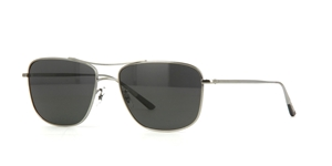 OLIVER PEOPLES SHAEFER UNISEX POLARISED AVIATOR IN SILVER WITH GREY/BLUE LENSES OV1146ST 5041/7C