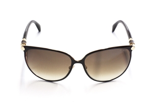 Picture of Jimmy Choo Juliet/S BKSJD Black Gold inner Frame with Black Leather Barrel Hinge Detail