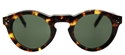 CELINE BEVEL ROUND IN LIGHT TORTOISESHELL CL41370/S E8885 LIGHT ACETATE SMALL RETRO STYLE SUNGLASSES