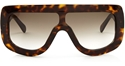 Celine Cl41377s 086 Adele visor style statement streetsyle unisex sunglasses in dark havana,,KARDASHIAN ,AMBER ROSE,hip hop,kanye west,jay-z,beyonce,lady gaga,Christine Centenera,anna del russo,unisex
