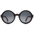 Fendi FF0120/S Color Flash MFQ/HD Black/Fuschia round retro style sunglasses