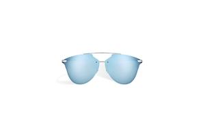 DIOR REFLECTEDP S62RQ BLUE RUTHENIUM PRISM EFFECT MIRRORED WOMENS SUNGLASSES