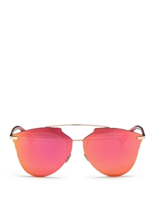 DIOR REFLECTED P S6DRR RED RUTHENIUM PRISM EFFECT MIRRORED WOMENS SUNGLASSES
