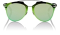 DIOR REFLECTED P S61RU GREEN PRISM EFFECT MIRRORED WOMENS SUNGLASSES