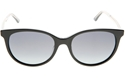 DIOR MONTAIGNE 16/S MV3KU BLACK BLUE CLASSIC WOMENS SUNGLASSES