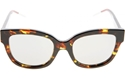 DIOR VERY DIOR1N VV5(DC) HAVANA RED CLASSIC ANGULAR MIRRORED WOMENS SUNGLASSES