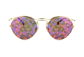 DIOR ORIGINS1 06J(0Z) HOLOGRAPHIC PRINT ROUND RETRO METAL ACETATE WOMENS SUNGLASSES