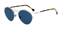DIOR ORIGINS1 8JD(KU) PALLADIUM BLUE ROUND RETRO METAL ACETATE WOMENS SUNGLASSES