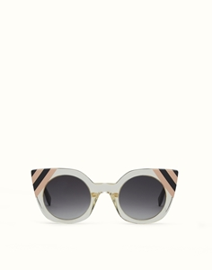 FENDI WAVES FF0240/S 40G(9O) TRANSPARENT YELLOW CATSEYE SUNGLASSES