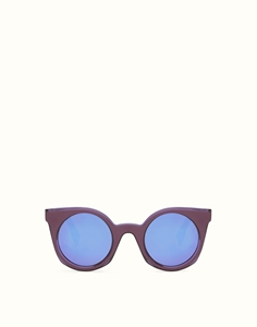 FENDI BE YOU FF0196/S KEO(P6) TRANSPARENT VIOLET ROUND CATSEYE SUNGLASSES