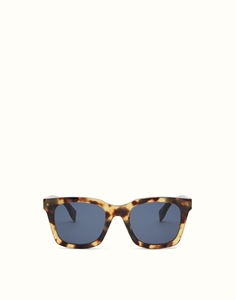 FENDI FF0216/S SCLKU LIGHT HAVANA FUN SUN SQUARE FENDI UOMO SQUARE WAYFARER STYLE SUNGLASSES
