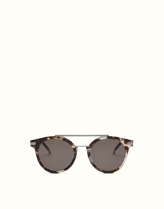 FENDI URBAN ROUND FF0225/S 3MA(IR) LIGHT HAVANA LUXURY SUNGLASSES WITH GREY BROWN LENSES