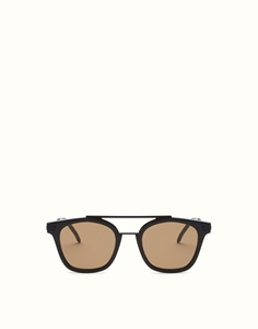 FENDI URBAN SQUARE FF0224/S 807(70) BLACK LUXURY SUNGLASSES WITH SQUARE LENSES