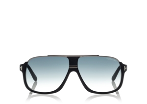 TOM FORD ELLIOT FT0335 02W MATTE BLACK SILVER FLATTOP CLASSIC SUNGLASSES