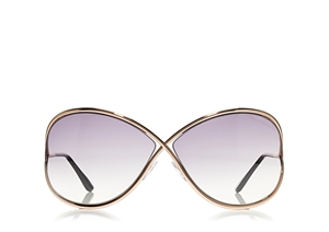 TOM FORD MIRANDA FT0130 28B SHINY  ROSE GOLD SOPHISTICATED SUNGLASSES