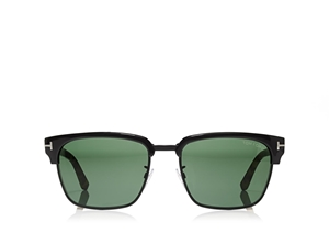 d175cf1a76 TOM FORD RIVER FT0367 02B MATTE BLACK TORTOISESHELL MASCULINE VINTAGE STYLE  CLUBMASTER SUNGLASSES