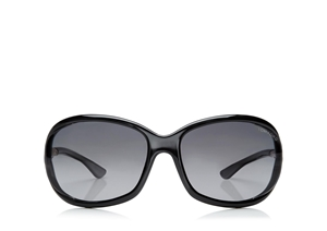 TOM FORD JENNIFER FT0008 199 BLACK CLASSIC SOFT SQUARE WOMENS SUNGLASSES