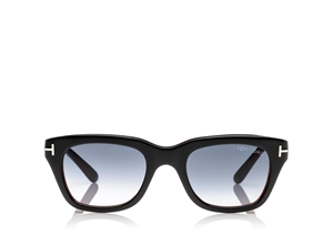 TOM FORD SNOWDON FT0237 05B BLACK SQUARE VINTAGE WAYFARER SUNGLASSES