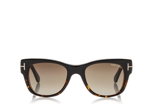 TOM FORD CARY FT0058 05K UNISEX BROWN WOOD WAYFARER STYLE SUNGLASSES