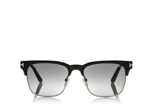 TOM FORD LOUIS FT0386 01D MEN'S CLASSIC BLACK POLARIZED CLUBMASTER