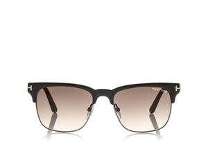 49ccc1cfdc TOM FORD LOUIS FT0386 48K MEN S CLASSIC DARK BROWN CLUBMASTER ...