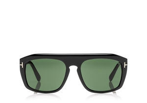 TOM FORD FT0470 01N SHINY BLACK SQUARE MENS SUNGLASSES