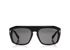 TOM FORD FT0470 05A SHINY BLACK HAVANA SQUARE MENS SUNGLASSES