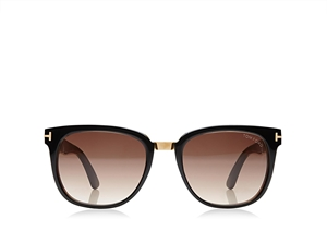 TOM FORD ROCK FT0290 01F SHINY BLACK RETRO MALE WAYFARER