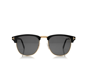 TOM FORD HENRY FT0248 05N SHINY BLACK MASCULINE JFK 50'S STYLE SUNGLASSES IDEAL FOR PRESCRIPTION