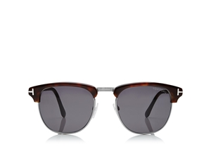 TOM FORD HENRY FT0248 52A SHINY DARK HAVANA MASCULINE JFK 50'S STYLE SUNGLASSES IDEAL FOR PRESCRIPTION