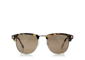 TOM FORD HENRY FT0248 55J VINTAGE HAVANA MASCULINE JFK 50'S STYLE SUNGLASSES IDEAL FOR PRESCRIPTION