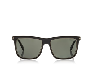 TOM FORD KARLIE FT0392 01R SHINY BLACK FLATTOP MASCULINE MINIMAL WAYFARER
