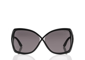 TOM FORD JULIANNE FT0427 02A MATTE BLACK SQUARE MASK WOMENS SUNGLASSES
