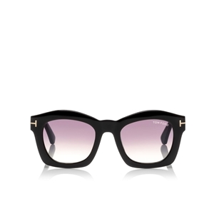 TOM FORD GRETA FT0431 01Z SHINY BLACK GEOMETRIC WOMEN'S SUNGLASSES