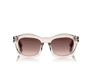 TOM FORD GRETA FT0431 745 TRANSPARENT PINK GEOMETRIC WOMEN'S SUNGLASSES