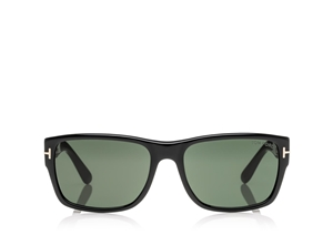 TOM FORD MASON FT0445 01N SHINY BLACK MINIMAL MASCULINE WAYFARER