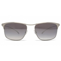 PAUL SMITH LANYON PM4068S 100587 FLATTOP AVIATOR DAVID BOWIE SILVER WITH GREY LENSES