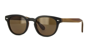 OLIVER PEOPLES POUR BERLUTI SHELDRAKE SUN LEATHER 0OV5036SQ 1602/73 TOBACCO BIS BLACK LIMITED EDITION LUXURY SUNGLASSES