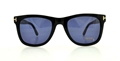 TOM FORD LEO FT0336 01V SHINY BLACK BLUE WAYFARER STYLE SUNGLASSES