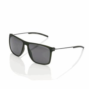 PORSCHE DESIGN FLATTOP P8636 C 58 V616 MATTE BLACK POLYAMIDE STAINLESS STEEL LUXURY MEN'S FLATTOP SUNGLASSES