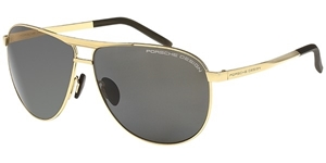 PORSCHE DESIGN P8642 B 6211 E88 GOLD DARK GREY MEN'S CLASSIC AVIATOR