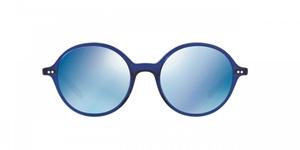 OLIVER PEOPLES CORBY OV5347SU 156696 DENIM BLUE ROUND FEMININE UNIQUE FLAT BASE MIRRORED LENS SUNGLASSES