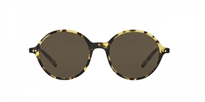 OLIVER PEOPLES CORBY OV5347SU 157171 DTBK ROUND FEMININE UNIQUE G15 FLAT BASE LENS SUNGLASSES