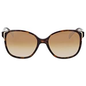 PRADA PR 01OS 2AU6E1 HAVANA POLARISED WOMENS SQUARE SUNGLASSES