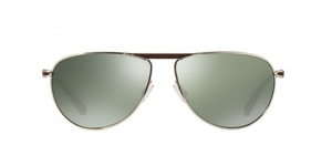 OLIVER PEOPLES POUR BERLUTTI CONDUIT STREET OV1212SQ 50359 TOBACCO BISQUE GOLDTONE G15 CLASSIC POLARIZED AVIATOR