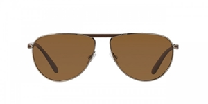OLIVER PEOPLES POUR BERLUTTI CONDUIT STREET OV1212SQ 5039N6 TOBACCO BISQUE BOURBON POLARIZED CLASSIC AVIATOR