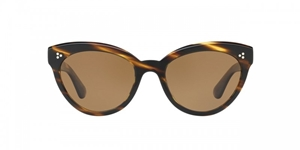OLIVER PEOPLES ROELLA OV5355SU 100383 COCOBOLO WITH BROWN POLARIZED LENSES WOMENS CATSEYE SUNGLASSES