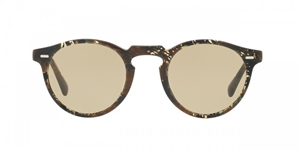 OLIVER PEOPLES GREGORY PECK SUN BY ALAIN MIKLI OV5217S 162333 PALMIER CHOCOLAT YELLOW WASH LENS UNISEX RETRO SUNGLASSES